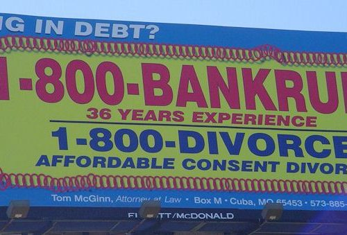 1-800-Divorce dual billboard